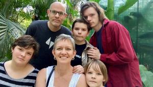 Karen with her family